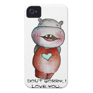 Funny Hippo Case-Mate iPhone 4 Cases