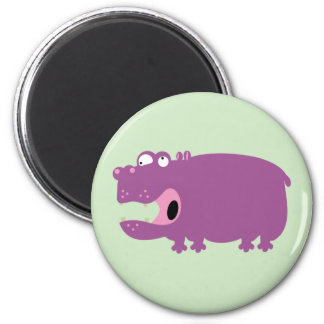 Funny Hippo Magnet