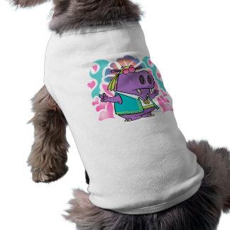 funny hippy hippie hippo cartoon doggie t shirt