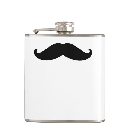 Funny Hipster Moustache Hip Flask