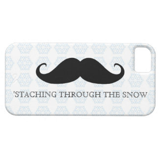 Funny hipster mustache holiday xmas mustaches case for the iPhone 5