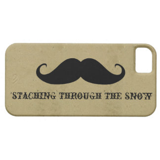 Funny hipster mustache holiday xmas mustaches iPhone 5 cases