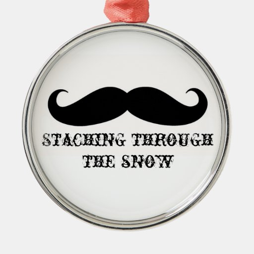 Funny hipster mustache holiday xmas mustaches ornaments