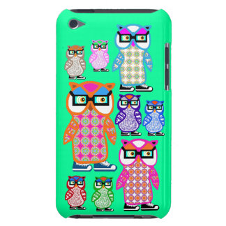 Funny Hipster Owls iPod Touch Mint Green Case