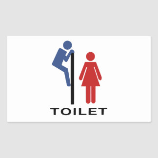 Funny His Hers Toilet Sign - Women Restroom Sign Sticker