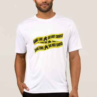 Funny Hockey Goalie Crime Tape T-Shirt
