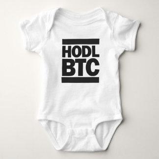 Funny HODL BTC Bitcoin Cryptocurrency Print Baby Bodysuit