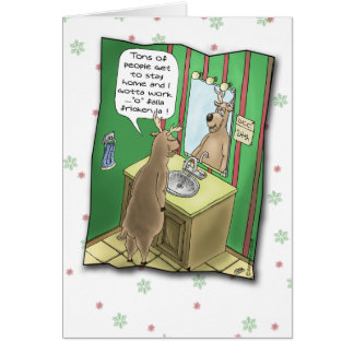 Funny Holiday Cards: Working Christmas Eve Card