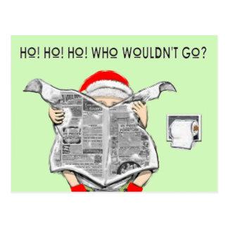 Funny Holiday Cartoon Postcard