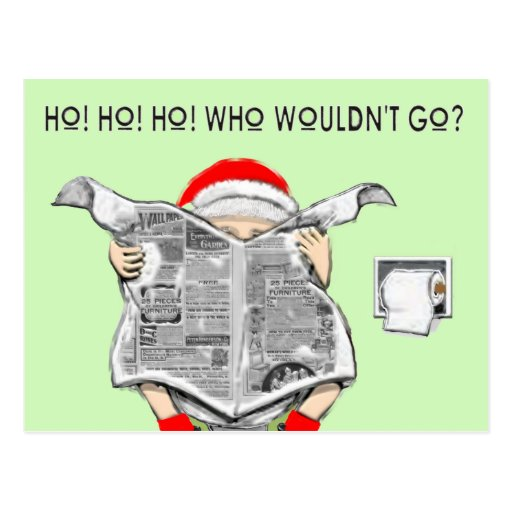 Funny Holiday Cartoon Post Card