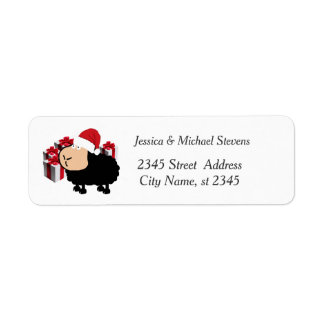 Funny holiday cartoon Santa sheep