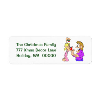 Funny Holiday Joke Xmas Envelope  Labels