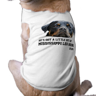 Funny Holiday Mississippi Leg Hound Rottweiler Dog Doggie Tee