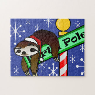 FUNNY HOLIDAY SLOTH CHRISTMAS PUZZLE