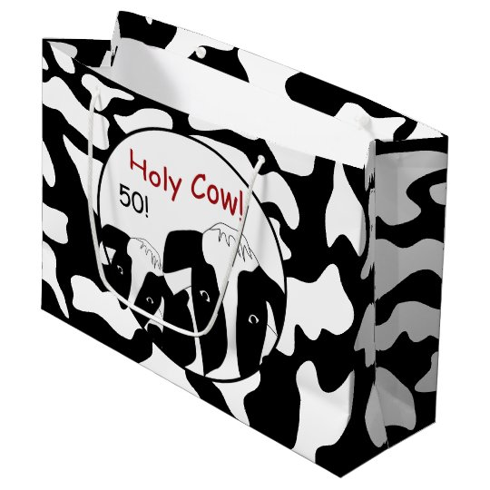Funny Holy Cow Birthday LGB Large Gift Bag