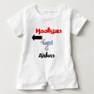 """Funny """"Hooligan"""" Baby Romper for Twins"""