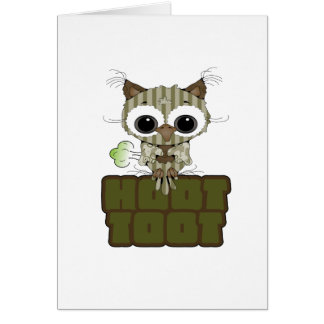 Funny Hoot Toot Cute Farting Owl Cards