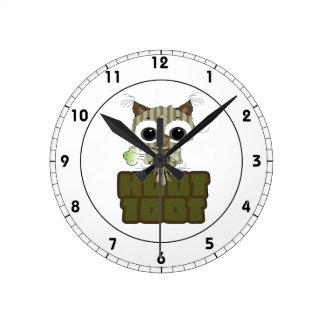 Funny Hoot Toot Cute Farting Owl Wallclock