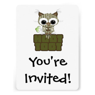 Funny Hoot Toot Cute Farting Owl Personalized Invitations
