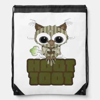 Funny Hoot Toot Cute Farting Owl Backpacks