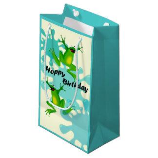 Funny Hoppy Birthday Frog Small Gift Bag