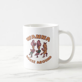 Funny Horse Around T-shirts Gifts Coffee Mugs