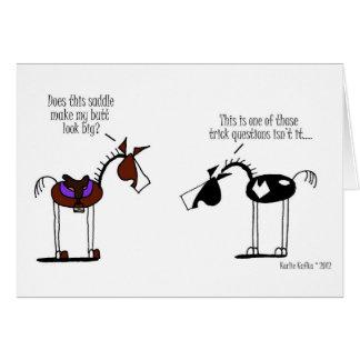 Funny Horse Cartoon Card