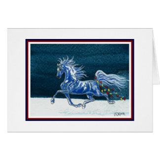 Funny Horse Christmas Card