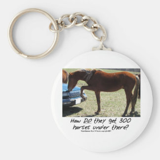 Funny Horse: How do they get 300 Under there? Keychain