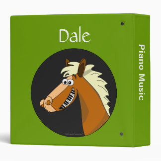 Funny Horse Piano Music Folder for Student Pianist 3 Ring Binder