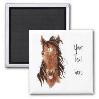 Funny Horse, with attitude,Watercolor Animal Humor Magnet