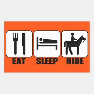 Funny Horseback Rider's Eat Sleep Ride Any Color Sticker