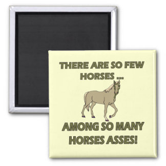 Funny Horses Asses T-shirts Gifts Refrigerator Magnets