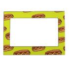 Funny Hot Dog Food Design Magnetic Picture Frame