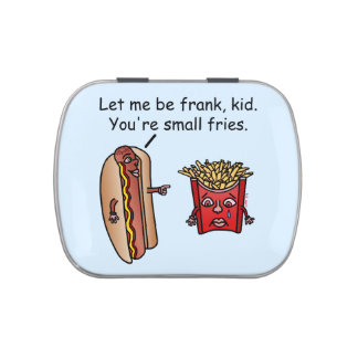 Funny Hot Dog French Fries Food Pun