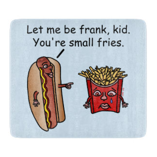 Funny Hot Dog French Fries Food Pun Cutting Boards