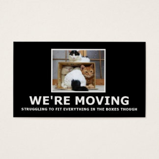 Funny house moving business card
