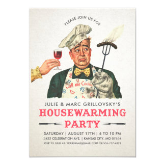Funny Housewarming Party Invitations | Vintage