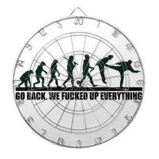 Funny Human Evolution Graphic Design Dartboard With Darts
