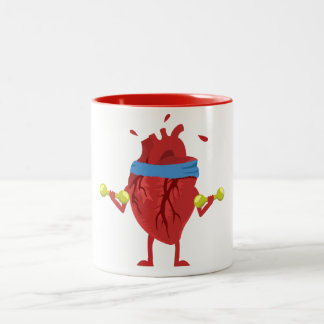 Funny Human Heart Workout Mug