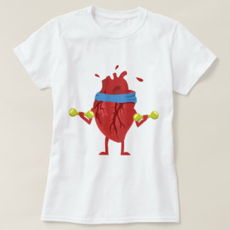 Funny Human Heart Workout T-shirt