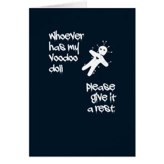 Funny humor. Voodoo Doll Halloween Card