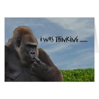 Funny Humorous Ape Gorilla Getting Old Card