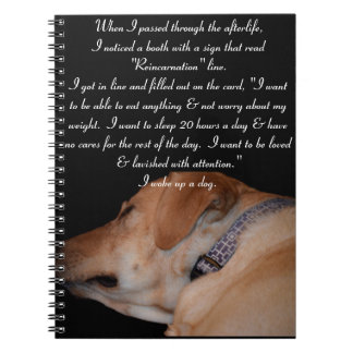 Funny Humorous Sleeping Labrador Retriever Spiral Notebook