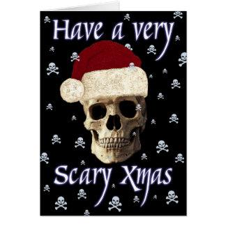 Funny Humour Fantasy Gothic Skull Christmas Xmas Card