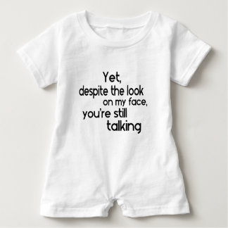 Funny Humour Unique Saying Baby Romper