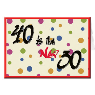 Funny Humourous 40th birthday Card with Dots