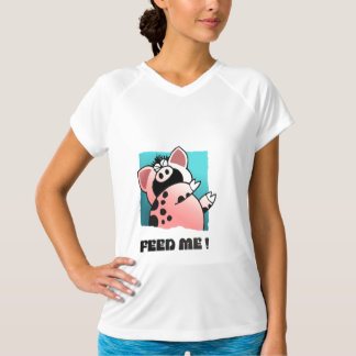 Funny Hungry Pig | cartoon Pig T Shirt