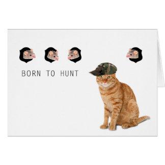 Funny Hunter Cat Card