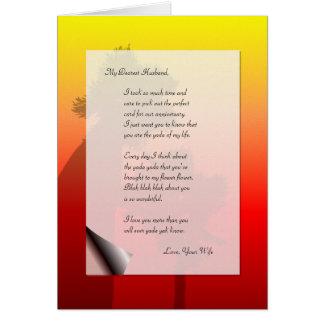 Funny Husband Anniversary Love Letter Yada Yak Card